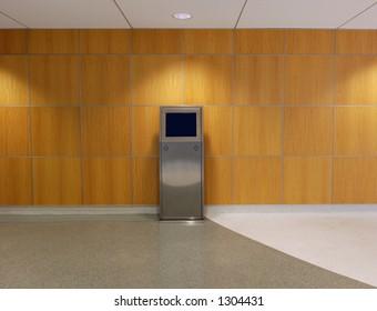 Helpdesk - Terminal inside office building for easier navigation