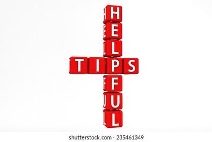 helpful tips Block Text