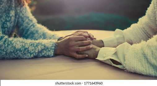 Helping hands, care for the elderly concept. Hands concept. Photo. Help.
