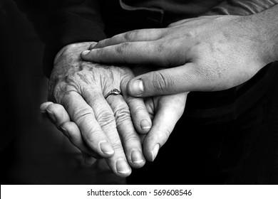 Helping hands. Generations of hands