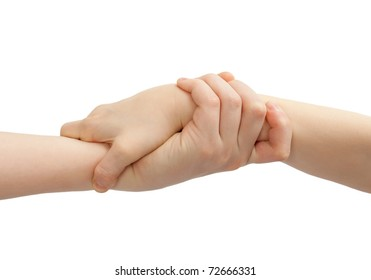 Helping Hands isolated on white