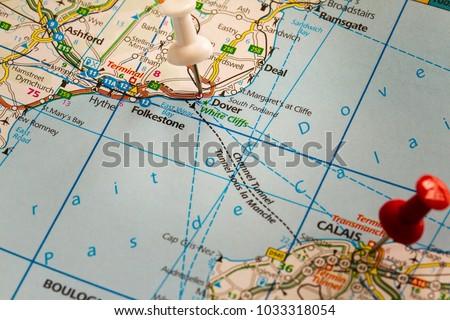 Map Of England Dover.Helsingborg Sweden February 19 2015 Dover Stock Photo Edit Now