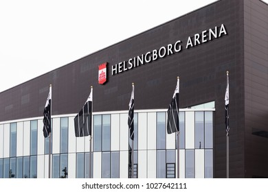 Helsingborg, Sweden - March 19 2017: Helsingborg Arena is a multi-purpose arena, located in Helsingborg, Sweden. It is since 1 januari 2015 a part of the company Helsingborg Arena and Scen AB.