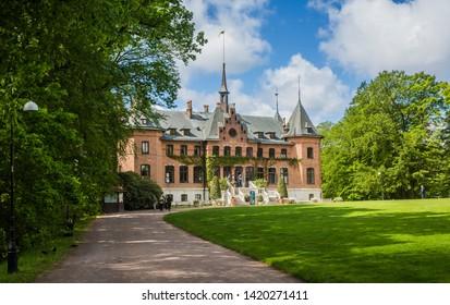 HELSINGBORG, SWEDEN - MAY 29, 2019: The royal castle of Sofiero in Helsingborg, Skane Sweden in morning light