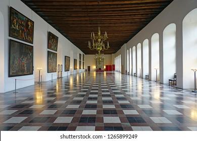HELSINGOR, DENMARK -26 SEP 2018- View of the Kronborg castle in Helsingor (Elsinore), Denmark, home of Shakespeare's Hamlet.