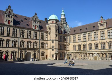 Helsingor, Denmark - 28 June 2019: Kronborg castle at Helsingor on Denmark