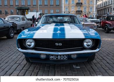 Helsinki, Finland 02 June 2017 Old car Chevrolet Camaro SS 427