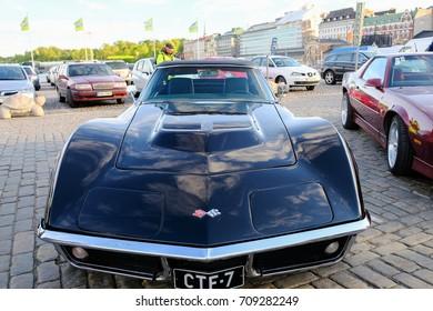 Helsinki, Finland 02 June 2017 Old car Chevrolet Corvette