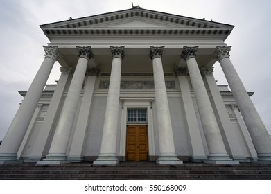 HELSINKI, FINLAND -1 JAN 2017- Opened in 1852, the landmark Helsinki Cathedral (Helsingin tuomiokirkko) is a Finnish Evangelical Lutheran Cathedral located in the center of Helsinki.
