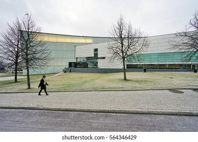 HELSINKI, FINLAND -1 JAN 2017- Opened in 1998, Kiasma is a museum of contemporary art located on Mannerheimintie in the Finnish capital.
