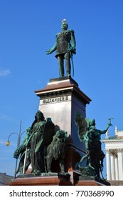 HELSINKI FINLAND 10 25 15: Jonah Ludvig Runeberg was a Finno-Swedish lyric and epic poet. He is the national poet of Finland and the author of the  Finnish National Anthem. Our Land, Maamme