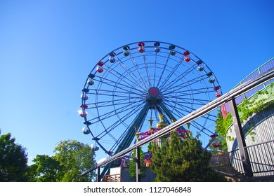 Helsinki, Finland - 22 June 2018 - Ferris whell in Helsinki.