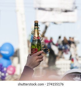 HELSINKI, FINLAND - APRIL 30, 2015: May Day Eve traditions in Helsinki