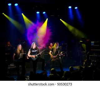 HELSINKI, FINLAND - APRIL 7: Finnish heavy metal  band Tarot  live on stage at Tavastia, Club - the #1 rock venue in Finland -  on April 7, 2010 in Helsinki, Finland