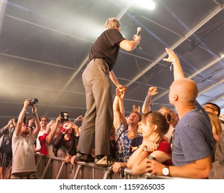 Helsinki, Finland - August 11, 2018:  British post-punk band originally from South London performing live on Lapin Kulta Red Arena at Flow 2018 Festival.