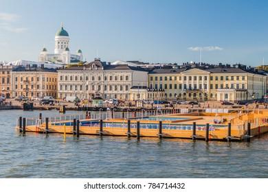 HELSINKI, FINLAND - AUGUST 24, 2016: Helsinki Pool â?? A floating sea spa & wellness hub
