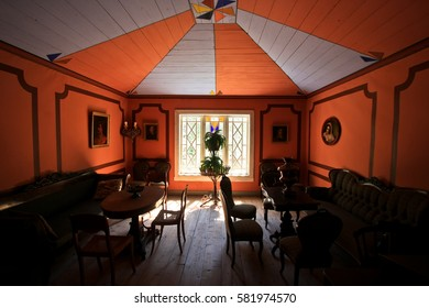 HELSINKI, FINLAND -JUL 19,2016: Hall in country estate on the park-museum Seurasaari in Helsinki