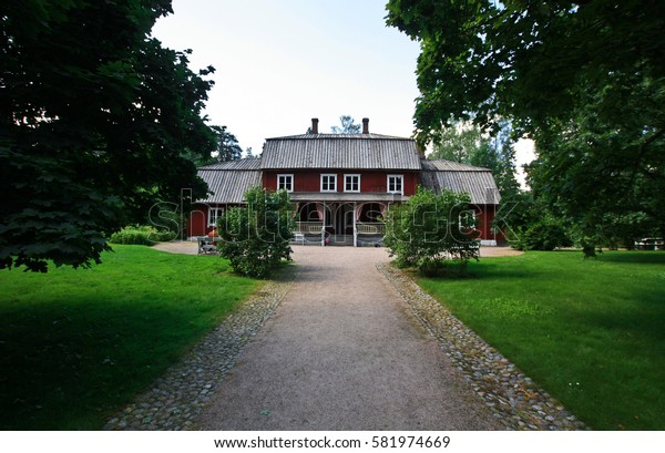HELSINKI, FINLAND -JUL 19,2016: Mansion on the park-museum Seurasaari in Helsinki