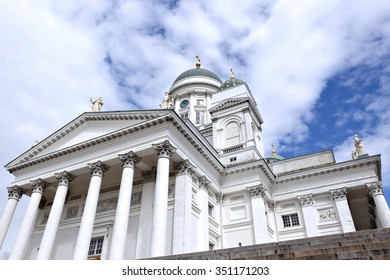 HELSINKI, FINLAND - JULY 7, 2015: Cathedral of St. Nicholas (Cathedral Basilica)