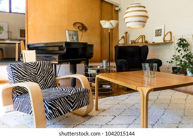 HELSINKI, FINLAND - JUNE 1, 2016: The Aalto House was designed by Finnish architect Alvar Aalto. The house in Munkkiniemi, Helsinki, was completed in 1936 as home and studio of Alvar and Aino Aalto.