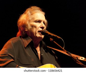 HELSINKI, FINLAND - NOVEMBER 13: Don McLean performs live on stage on 40th Anniversary Tour November 13, 2012 at FInlandia Hall, in Helsinki, Finland.