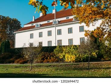 helsinki, finland - october 14,  2018: famous place Traskanda gard is located at Espoo  finland