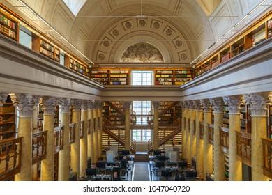 Helsinki, Finland - Okt 04 2017, interior National library of Finland, Helsinki, Finland