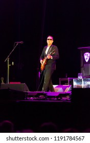 Helsinki, Finland - September 22, 2018: Joe Bonamassa performing at Helsinki Ice Hall.