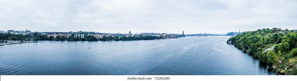 Helsinki panorama from Västerbron bridge