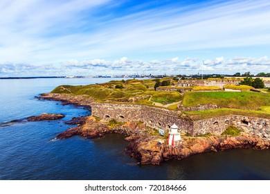 HELSINKI : Suomenlinna sea fortress on a sunny summer day
