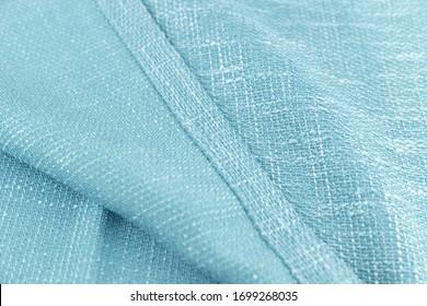 Hem of cotton and linen fabric - Shutterstock ID 1699268035