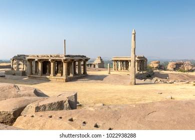 Hemakuta hill temple, Hampi, Karnataka, India