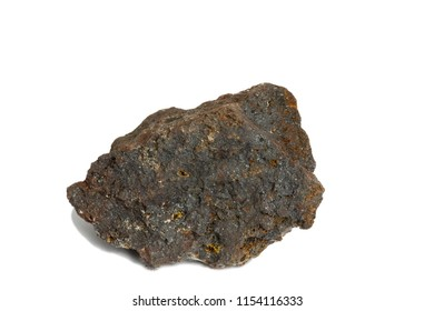 Hematite Rock isolate on white background
