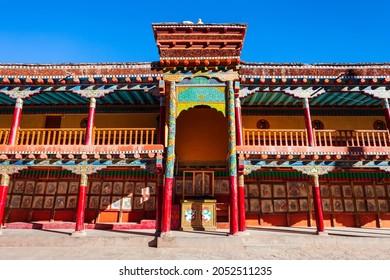 Hemis Monastery or Gompa is a tibetan style  buddhist monastery in Hemis village near Leh in Ladakh, north India