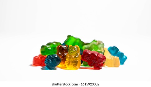 Hemp CBD Infused Gummies. Great for overlaying labels or logos!