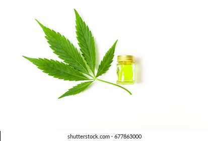 Hemp oil cannabis leaf