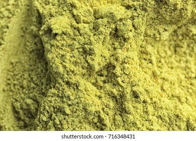 Hemp protein powder as background
