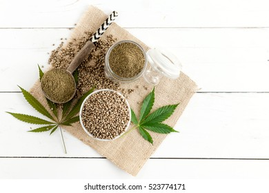 hemp seeds and hemp flour
