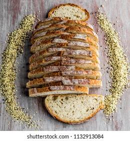 Hemp sourdough bread