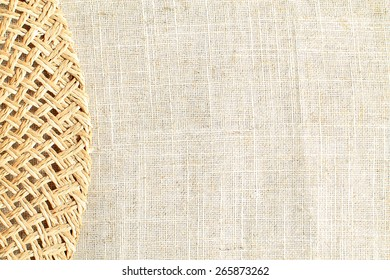 hemp, straw, flax background