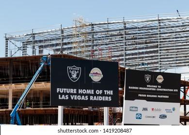 Henderson - Circa June 2019: Raiders new practice facility. The Raiders begin play in Las Vegas in 2020 II