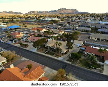 Henderson, Nevada, U.S.A - December 29, 2018 - The aerial view of the residential area