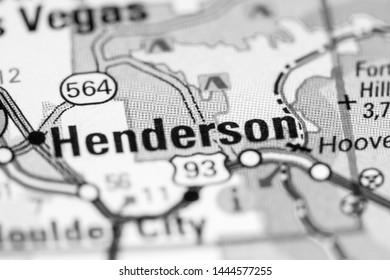 Henderson. Nevada. USA on a map