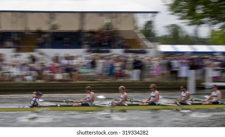 HENLEY, ENGLAND. 01-07-2010. Rowers in action on day 2 of the Henley Royal Regatta 2010 held on the River Thames.