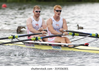 HENLEY, ENGLAND. 02-07-2010.  M.W. Wells & R.M. Bateman in action on day 3 of the Henley Royal Regatta 2010 held on the River Thames.