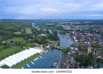 Henley on Thames, England. June 16th, 2019. The Thames river and Henley-on-Thames prepares for the Royal Regatta 2019.