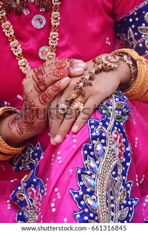 Henna On Hands Indonesian Wedding Bride Stock Photo Edit Now