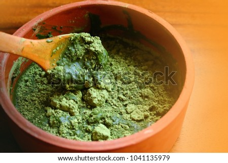 Henna Powder Hair Coloring Terracotta Bowl Stock Photo Edit Now