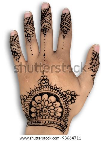 Henna Tattoo Body Art White Background Stock Photo Edit Now