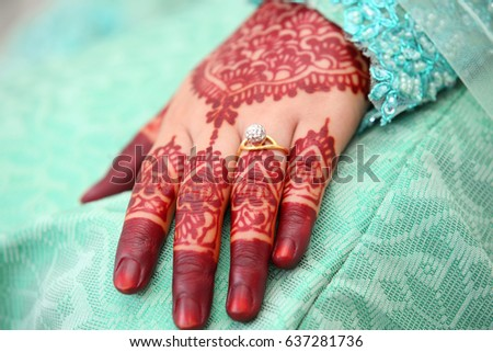 Henna Wedding Design Stock Photo Edit Now 637281736 Shutterstock